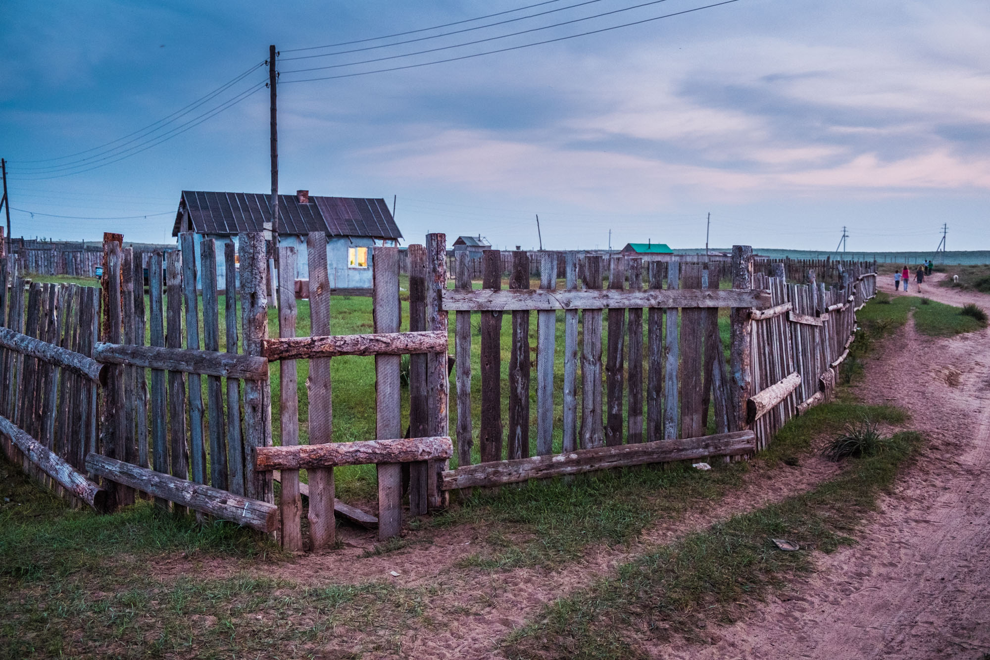 Fence in the ger district - Sukhbaatar, Mongolia